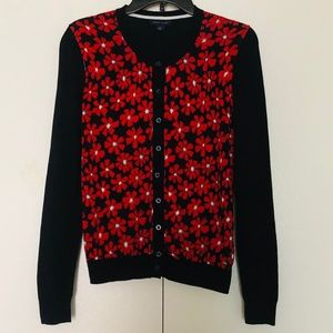 Tommy Hilfiger Navy  Cardigan with Flowers pattern